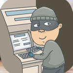 Man setting up scammers at the atm