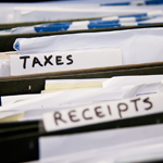 Tax papers and receipts