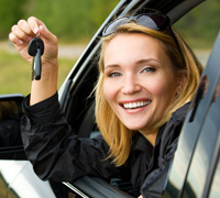 photo of woman with car keys